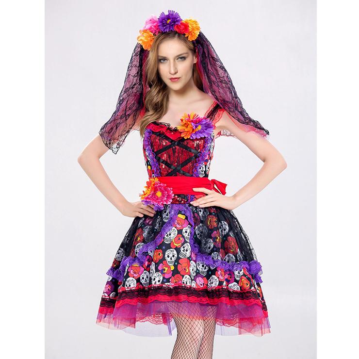 Evil Ghost Bride Dress Vampire Role Play Adult Halloween Costume N18193