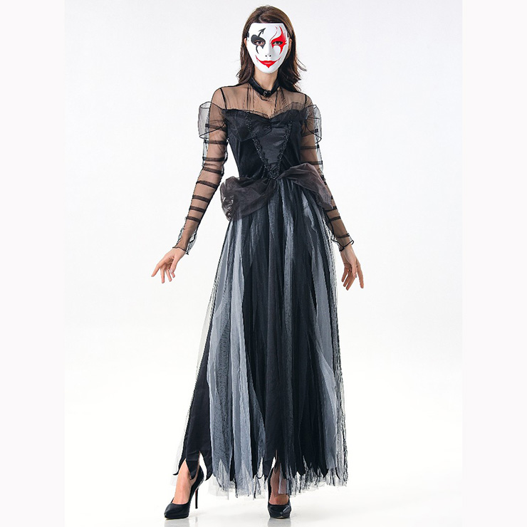 adult ghost bride dress vampire role play halloween party costume n17108