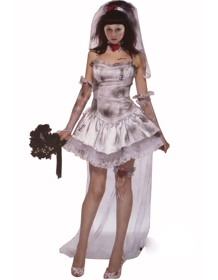 Ghost bride Costume, Halloween costume, Sexy Ghost bride Costume, #W3194