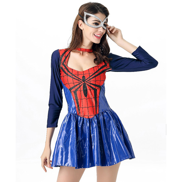 Tangled Web Costume, Sexy Spider Girl Costume, Womens Spider-man Costume, Halloween Costume, #N11682