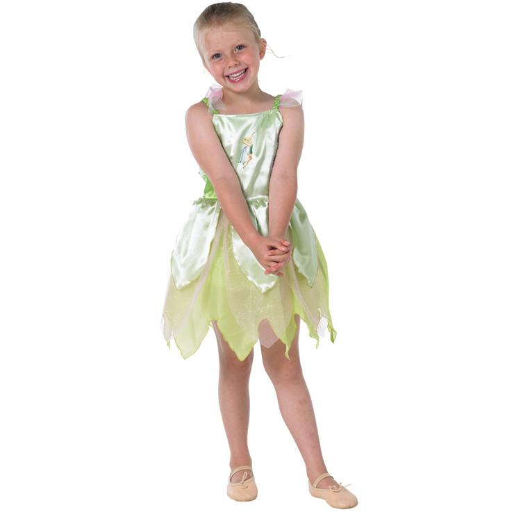 Cute Girls Green Sling Mesh Dress Classic Tinkerbell Costume N5964