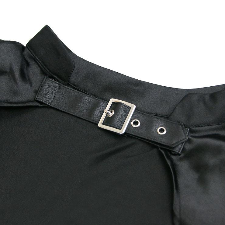 Gothic Black Shrug Bolero, Steampunk Corset Jacket, Victorian Costume, Gothic Costume, #N12899