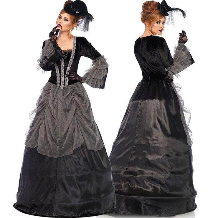 Gothic Nobility Vampire Queen Maxi Dress Halloween Costume N21357