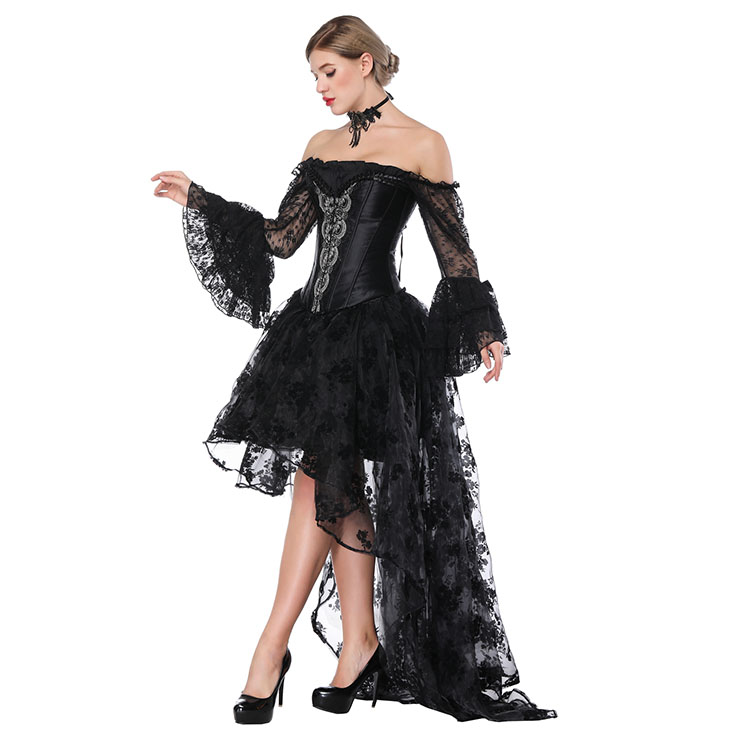 Gothic Corset and Skirt Sets, Women