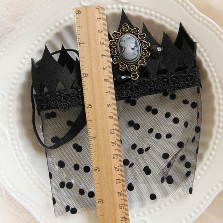 Halloween Masks, Costume Ball Masks, Black Lace Mask, Masquerade Party Mask, Punk Black Mask, Cosplay Face Veil, #MS13027