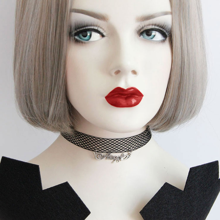 Gothic Vintage Vampire Netted Choker Necklace J17367