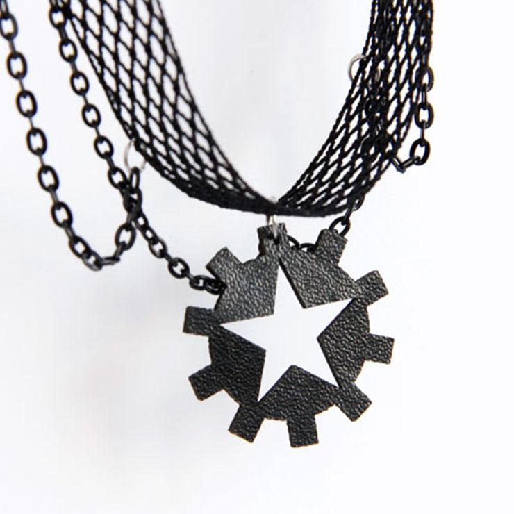 Vintage Style Necklace, New Gothic Necklace, Gem Necklace, Lace Necklace, Cheap Punk Chocker, Victorian Necklace for Women, #J17379