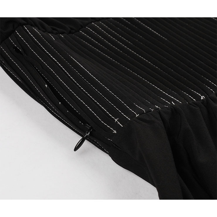 Little Black Dress, Vintage Dresses for Women, Gothic Style Dresses for Women Cocktail Party, Vintage Wide Elastic Band High Waist Dress, Short Sleeves Swing Daily Dress, Vintage Pure Black Swing Dress, #N18343
