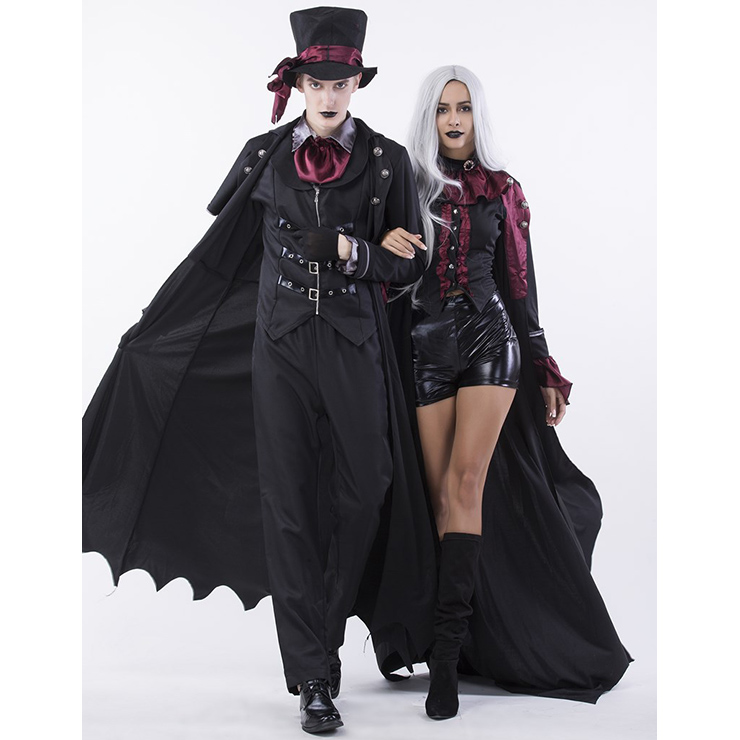 sc 1 st  MallTop1.com & Gothic Adult Halloween Vampire Dressed to Kill Couple Costume N14770