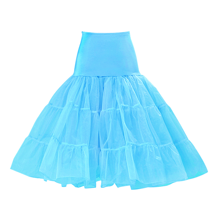 Graceful Cute Azure Tulle Skirt Petticoat HG11257