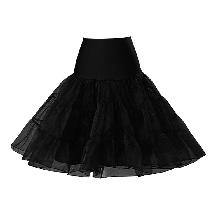 Graceful Cute Black Tulle Skirt Petticoat HG11261