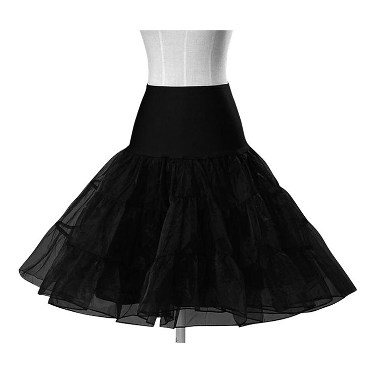 Sexy Black Skirt Petticoat, Fashion Black Skirt, Cheap Ladies Tulle Petticoat, Party Dress Petticoat, Plus Size Petticoat, #HG11261