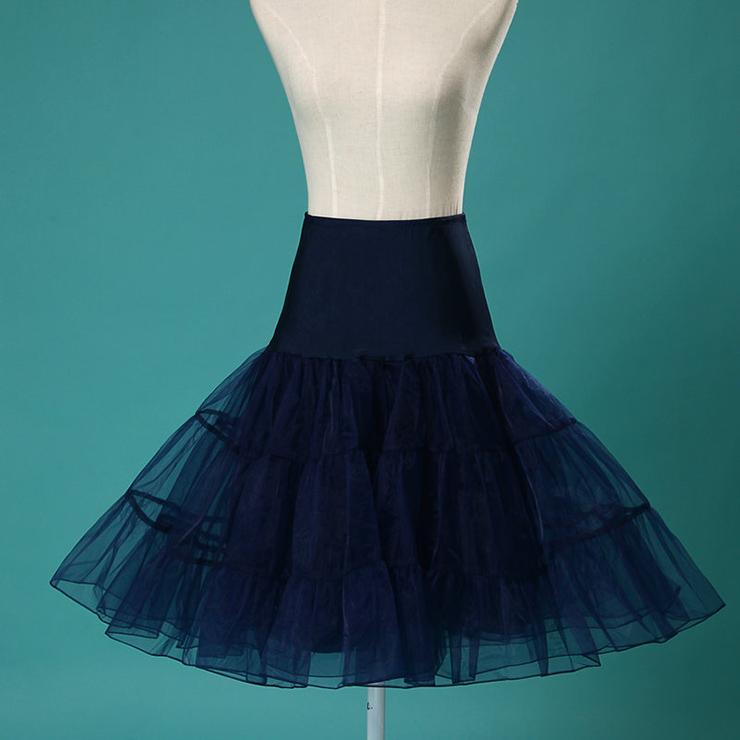 Graceful Cute Dark-blue Tulle Skirt Petticoat HG11260