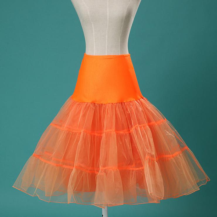 Graceful Cute Orange Tulle Skirt Petticoat HG11254