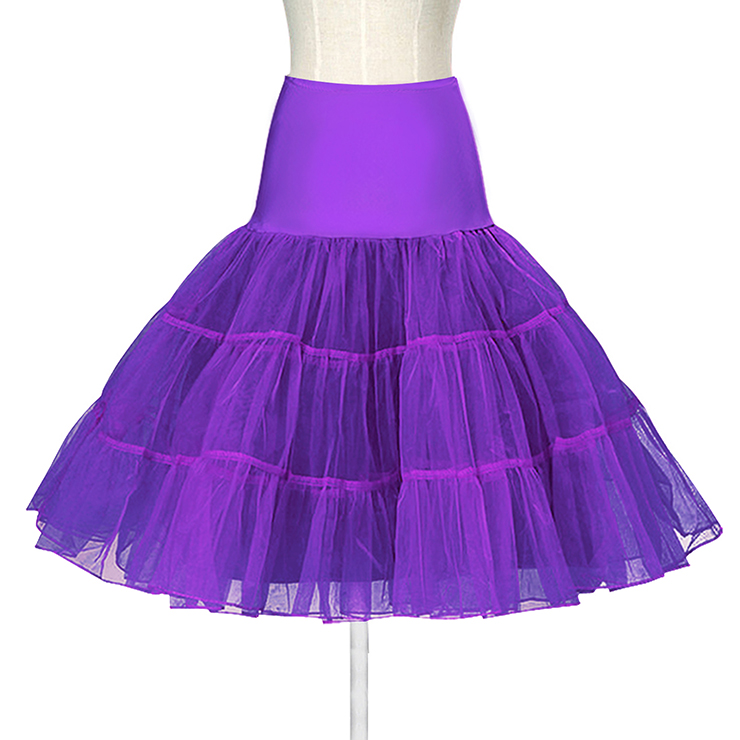 Graceful Cute Purple Tulle Skirt Petticoat HG11265
