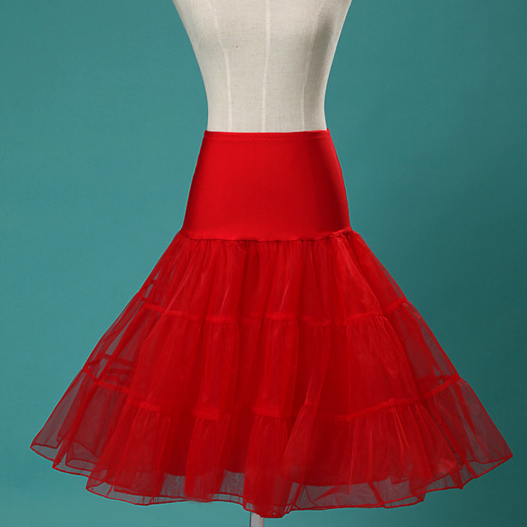 Graceful Cute Red Tulle Skirt Petticoat HG11262