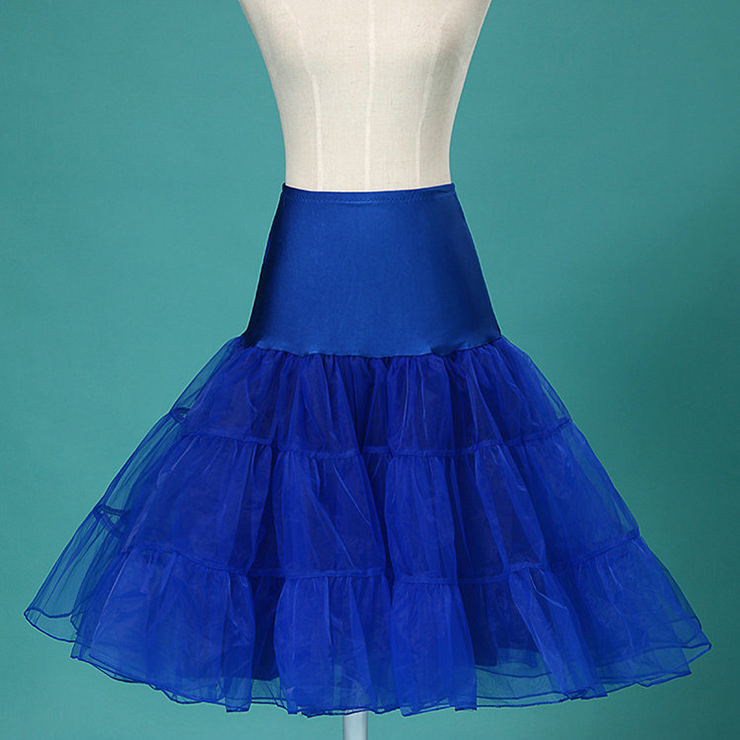 graceful royalblue tulle skirt petticoat hg11264