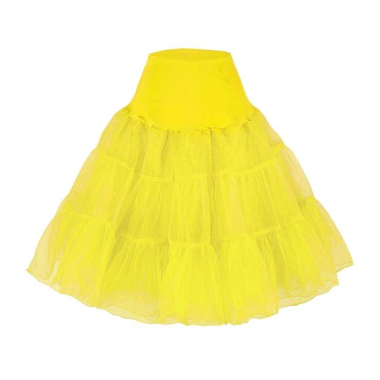 Graceful Cute Yellow Tulle Skirt Petticoat HG11256