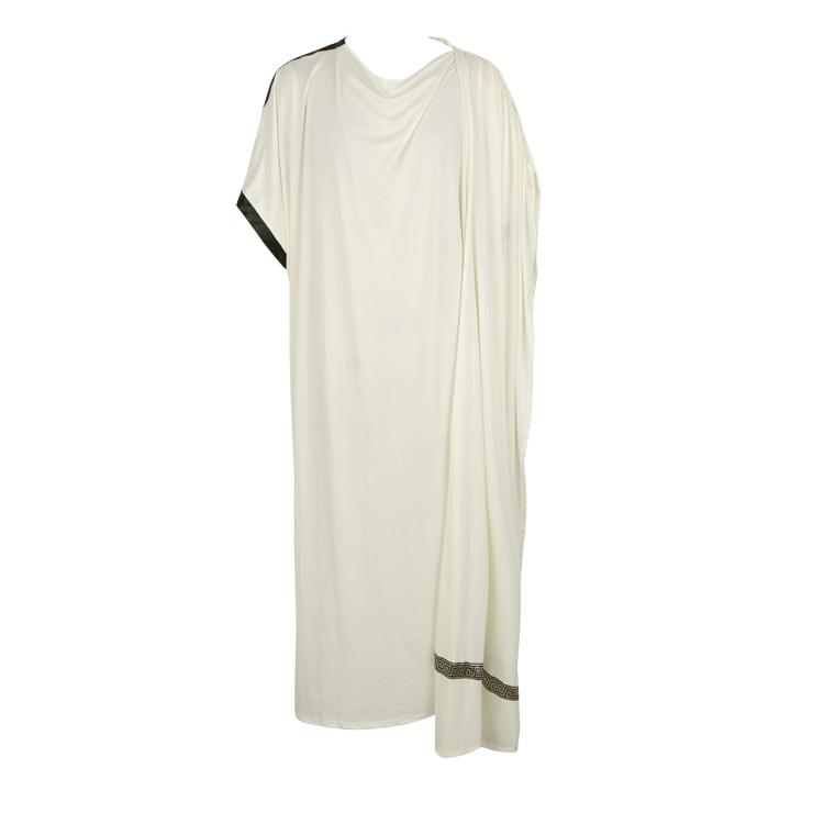 Beige Toga Costume, Greek Toga Halloween Costume, Grecian Toga Adult Costume, Men