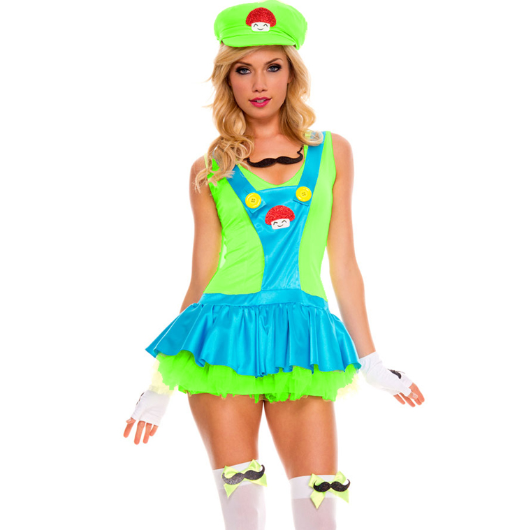 Green Playful Plumber Costume N6301