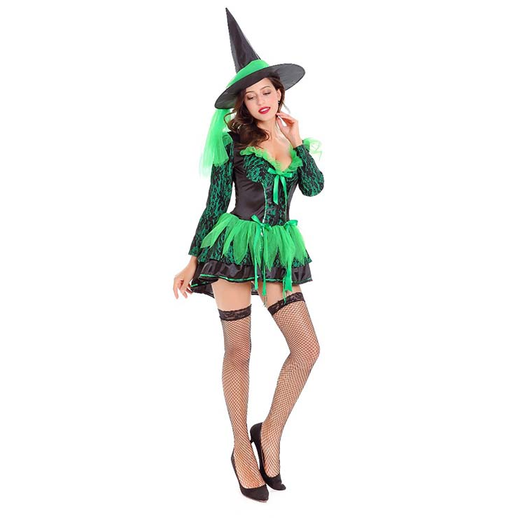 Wicked Green Witch Halloween Adult Costume N14748