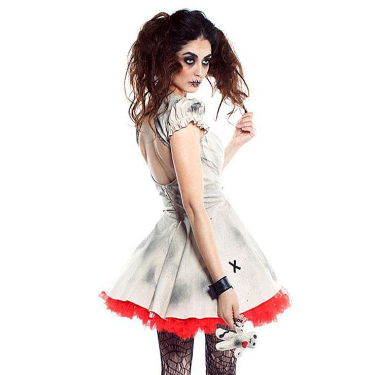 Halloween Ghost Doll Costume, Girl Halloween Horrid Costume, Doll Costume, Adult Ghost Doll Costume,Rotten Girl Costume#N18245
