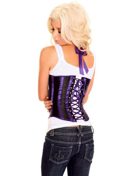 Purple Underbust Corset, Sexy Underbust Corset, Sexy Corset Lingerie, #N2661