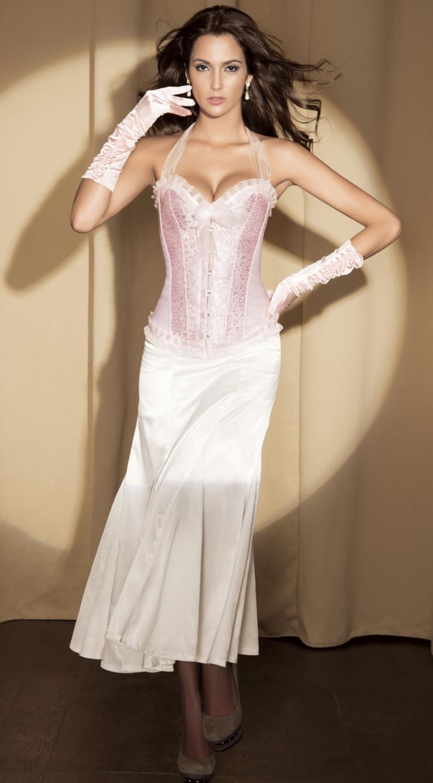 Halter corset, pink corset, Sexy Corsets, #M1214