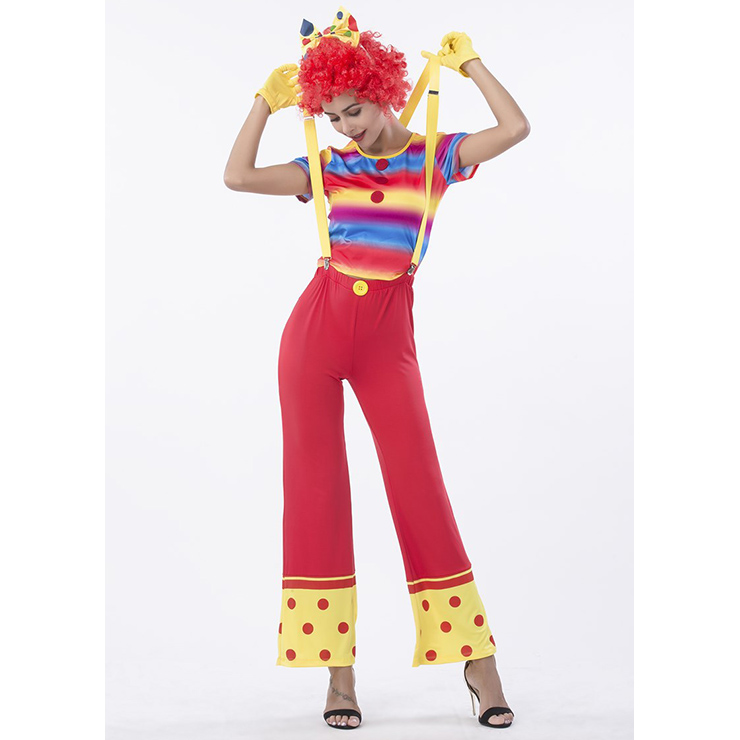 Women's Happy Circus Clown Adult Cosplay Costume N14767