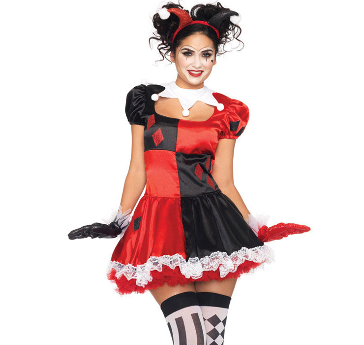Harlequin clown costume n4520