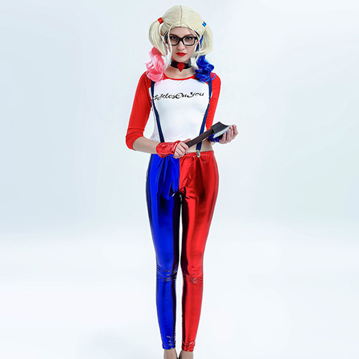 Suicide Squad Harley Quinn Costume with Wigs N12708