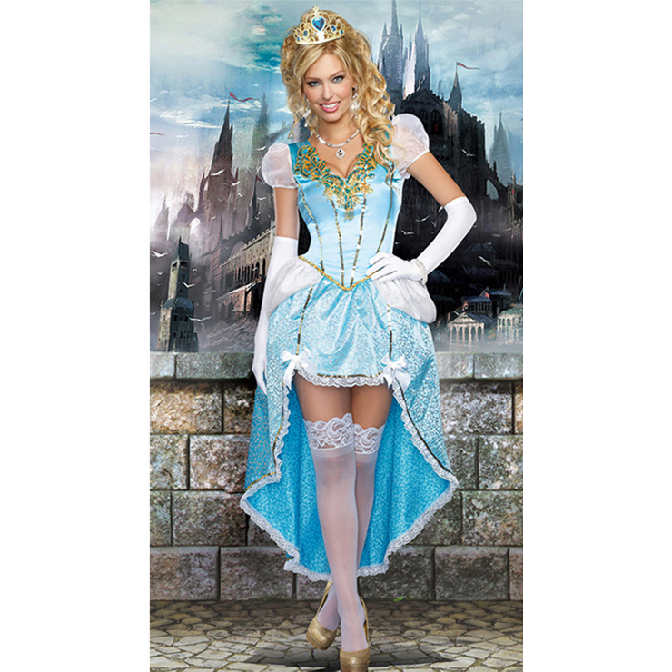 Deluxe Celeste Adult Princess V-neckline Hi-Lo Theatrical Fancy Ball Costume N8927