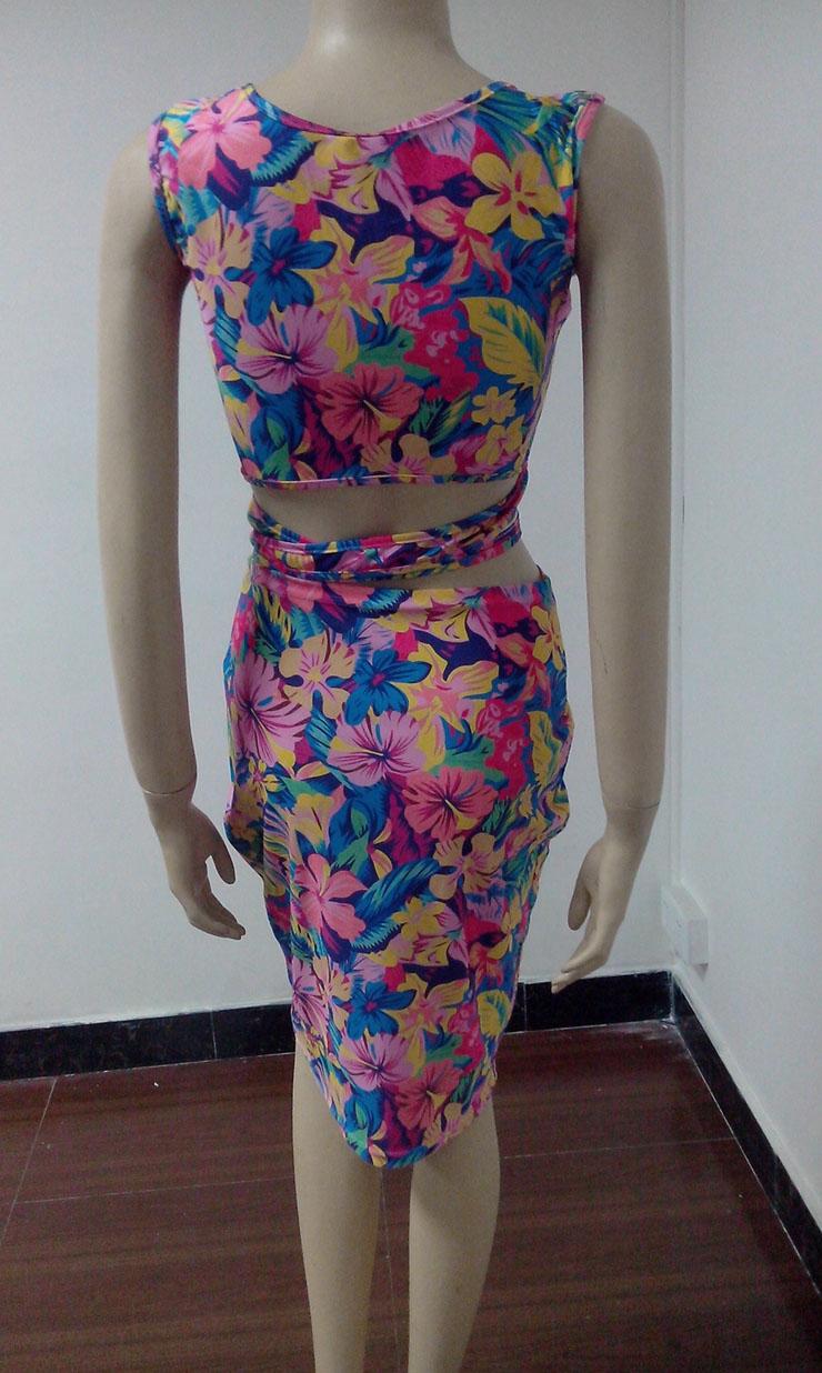 Hawaiian Wrap Skirt Set N8982