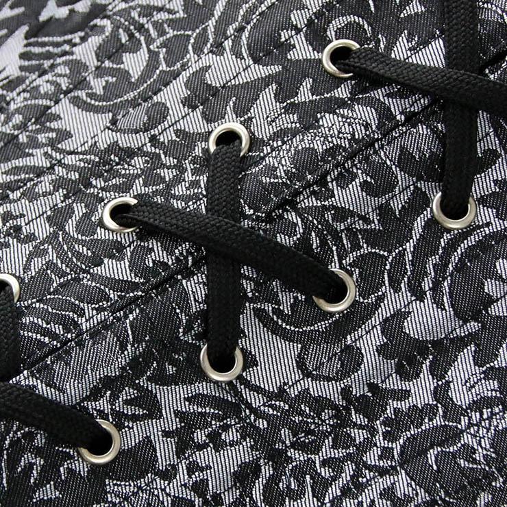 Black Jacquard Weave Corset, Cheap Steel Bone Corset, Women