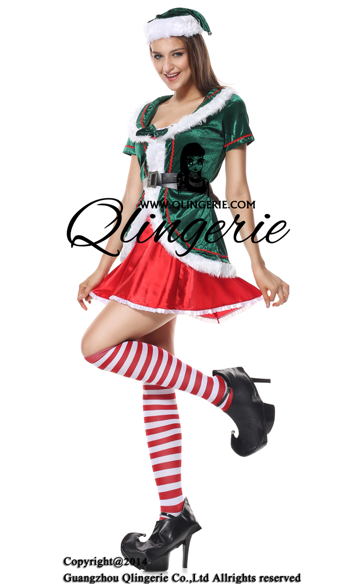 Holiday honey elf sexy costume xt