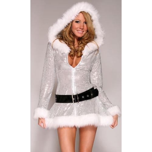 Hooded Halter Dress XT2214  sc 1 st  MallTop1.com & HOODED SEXY SANTA COSTUME - MallTop1.com