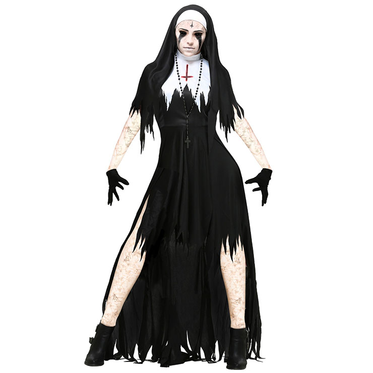 horrible dark nun adult halloween costume n14734