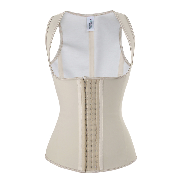 Hot Sale Apricot Latex Steel Bone Vest Underbust Corset N10788