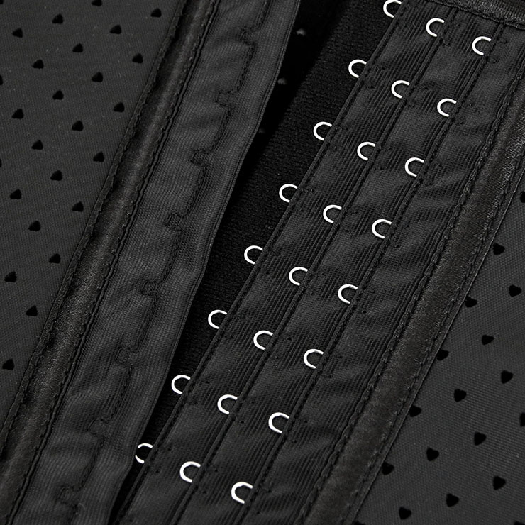 Black Steel Bone Vest Corset, Latex Underbust Corset, Black Underbust Corset, Women