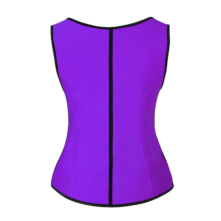 Purple Steel Bone Vest Corset, Latex Underbust Corset, Purple Underbust Corset, Women