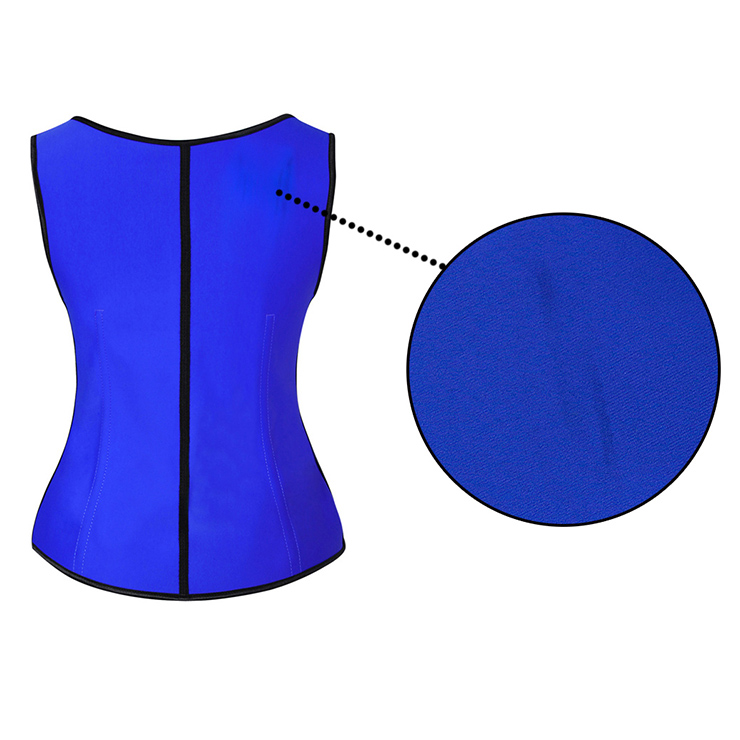 Royalblue Steel Bone Vest Corset, Latex Underbust Corset, Royalblue Underbust Corset, Women