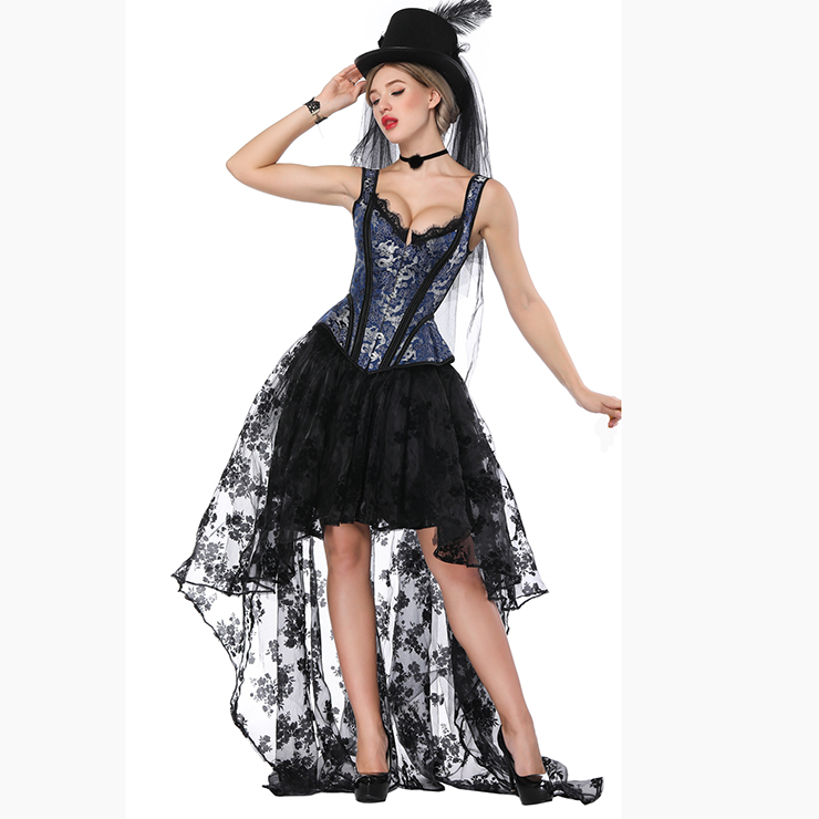 Jacquard Corset and Organza Skirt Set, Women