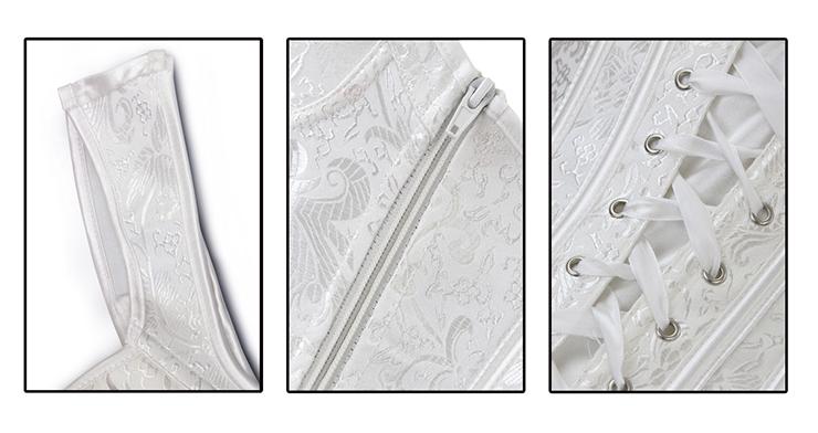 Jacquard Peasant Corset, Floral Brocade Corset, Lvory Renaissance Corset, Steampunk Corset, Corset Vest, #N11840