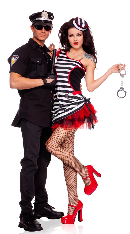 Jail House Hottie Costume, Prisoner Costume, Prison Uniform Costume, #N5101