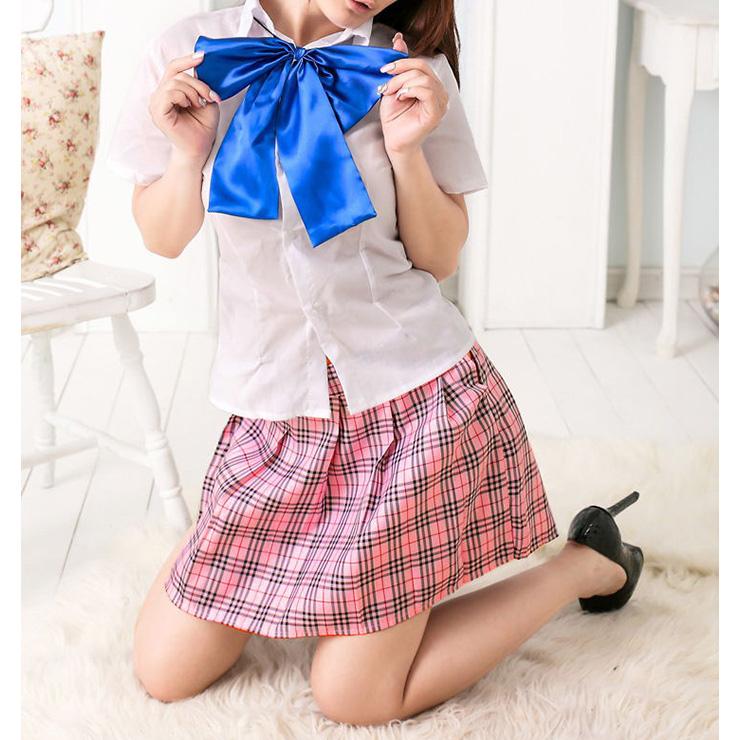 Lovely Pink Japan School Uniform School Girl Cosplay Halloween Costume N16626