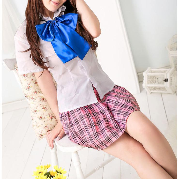 School Girl Costume, Sexy School Girl Costume, Plaid Schoolgirl Costume, School Girl Adult Costume, Japan School Uniform Cosplay Costume, #N16626