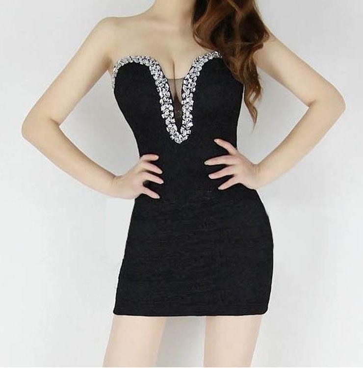 243812baad5 Lace Flower Off Shoulder Wrap Dress Black N6937