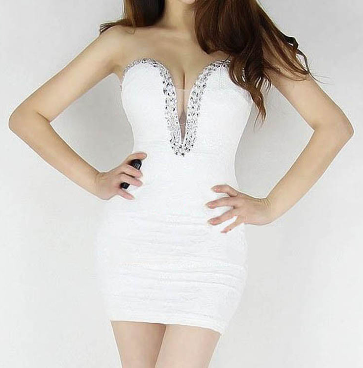 Lace Flower Off Shoulder Wrap Dress White N6939