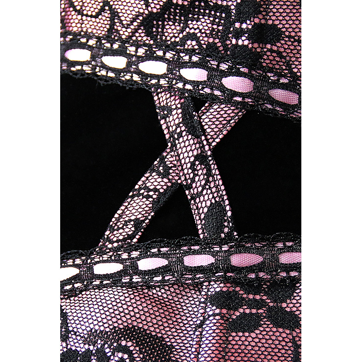 Corset with Floral Lace Overlay, Sexy Corset, Lace Corset, #N6811