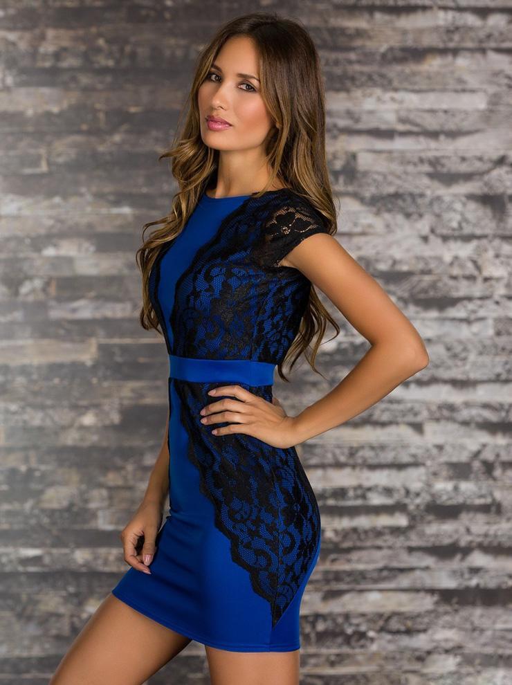 Blue Black Mini Dress